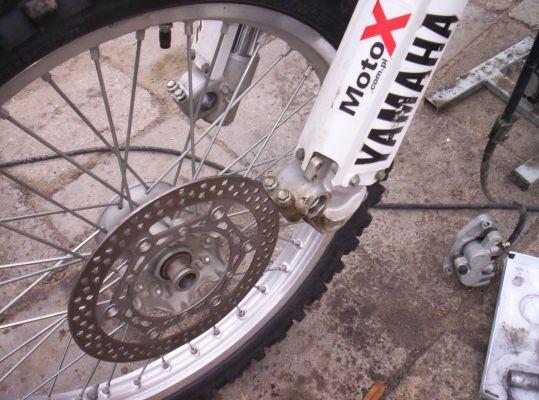 Ściąganie kół motocyklowych