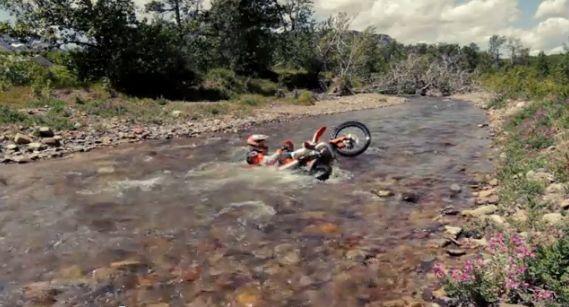 utopiony motocykl